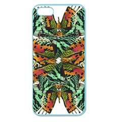 Butterfly Art Green & Orange Apple Seamless iPhone 5 Case (Color)