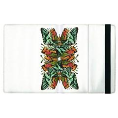 Butterfly Art Green & Orange Apple Ipad 2 Flip Case