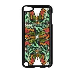 Butterfly Art Green & Orange Apple iPod Touch 5 Case (Black)