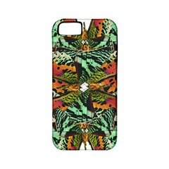 Butterfly Art Green & Orange Apple iPhone 5 Classic Hardshell Case (PC+Silicone)