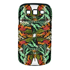 Butterfly Art Green & Orange Samsung Galaxy S III Classic Hardshell Case (PC+Silicone)