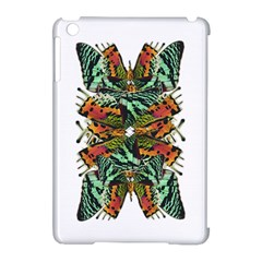 Butterfly Art Green & Orange Apple iPad Mini Hardshell Case (Compatible with Smart Cover)