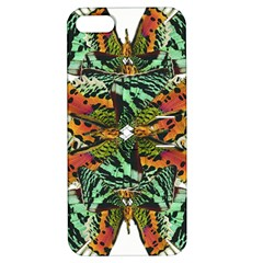 Butterfly Art Green & Orange Apple iPhone 5 Hardshell Case with Stand