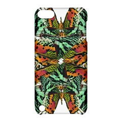 Butterfly Art Green & Orange Apple iPod Touch 5 Hardshell Case with Stand