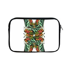 Butterfly Art Green & Orange Apple iPad Mini Zippered Sleeve