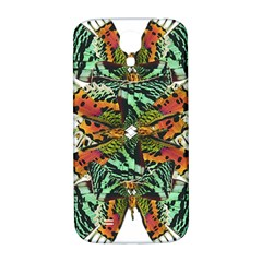 Butterfly Art Green & Orange Samsung Galaxy S4 I9500/I9505  Hardshell Back Case