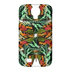 Butterfly Art Green & Orange Samsung Galaxy S4 Classic Hardshell Case (PC+Silicone)