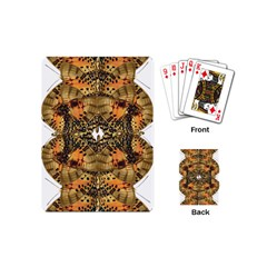 Butterfly Art Tan & Orange Playing Cards (Mini)