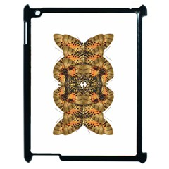 Butterfly Art Tan & Orange Apple iPad 2 Case (Black)