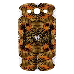 Butterfly Art Tan & Orange Samsung Galaxy S III Hardshell Case