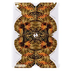Butterfly Art Tan & Orange Apple iPad 3/4 Hardshell Case (Compatible with Smart Cover)