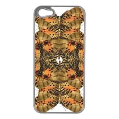 Butterfly Art Tan & Orange Apple iPhone 5 Case (Silver)