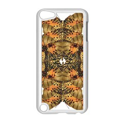 Butterfly Art Tan & Orange Apple iPod Touch 5 Case (White)