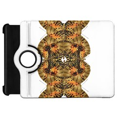 Butterfly Art Tan & Orange Kindle Fire Hd 7  (1st Gen) Flip 360 Case