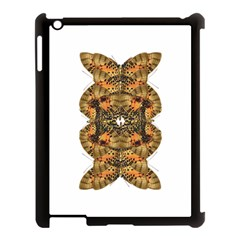 Butterfly Art Tan & Orange Apple Ipad 3/4 Case (black)