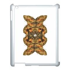 Butterfly Art Tan & Orange Apple iPad 3/4 Case (White)