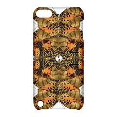 Butterfly Art Tan & Orange Apple Ipod Touch 5 Hardshell Case With Stand