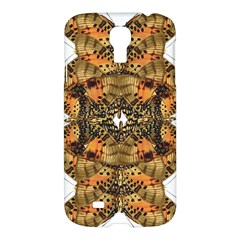 Butterfly Art Tan & Orange Samsung Galaxy S4 I9500/i9505 Hardshell Case