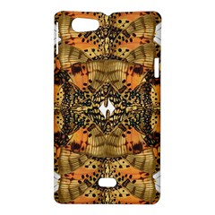 Butterfly Art Tan & Orange Sony Xperia Miro Hardshell Case