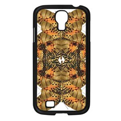 Butterfly Art Tan & Orange Samsung Galaxy S4 I9500/ I9505 Case (Black)