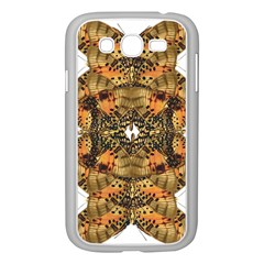 Butterfly Art Tan & Orange Samsung Galaxy Grand DUOS I9082 Case (White)