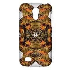 Butterfly Art Tan & Orange Samsung Galaxy S4 Mini (gt I9190) Hardshell Case