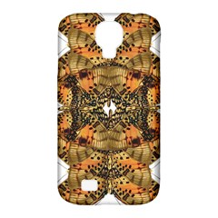 Butterfly Art Tan & Orange Samsung Galaxy S4 Classic Hardshell Case (pc+silicone)