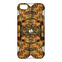 Butterfly Art Tan & Orange Apple iPhone 5C Hardshell Case