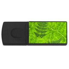Leaf & Leaves 1GB USB Flash Drive (Rectangle)