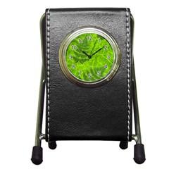 Leaf & Leaves Stationery Holder Clock