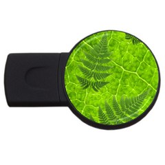 Leaf & Leaves 4gb Usb Flash Drive (round)