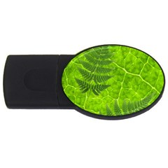 Leaf & Leaves 4GB USB Flash Drive (Oval)