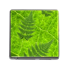 Leaf & Leaves Memory Card Reader With Storage (square)