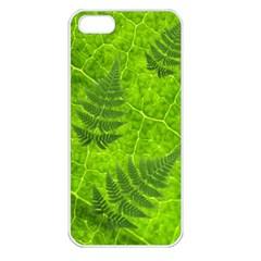 Leaf & Leaves Apple iPhone 5 Seamless Case (White)