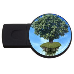 Floating Island 2gb Usb Flash Drive (round)