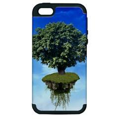 Floating Island Apple Iphone 5 Hardshell Case (pc+silicone)