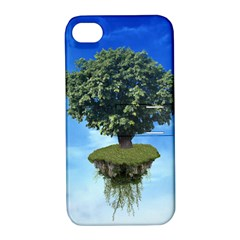 Floating Island Apple iPhone 4/4S Hardshell Case with Stand