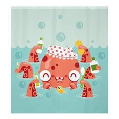 Mr. Bubbles Shower Curtain 66  x 72  (Large)