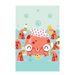 Mr. Bubbles Shower Curtain 48  x 72  (Small)