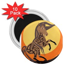 Embracing The Moon 2 25  Button Magnet (10 Pack)