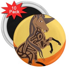 Embracing The Moon 3  Button Magnet (10 pack)