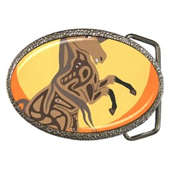 Embracing The Moon Belt Buckle (Oval)