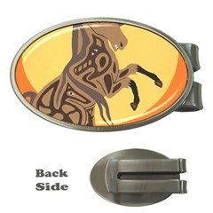 Embracing The Moon Money Clip (oval)