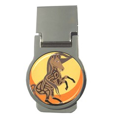 Embracing The Moon Money Clip (Round)