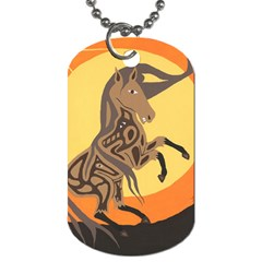 Embracing The Moon Dog Tag (Two-sided)