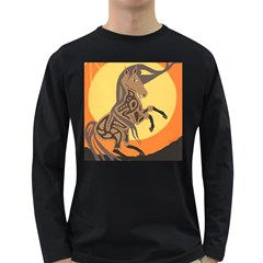 Embracing The Moon Men s Long Sleeve T-shirt (Dark Colored)