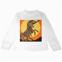 Embracing The Moon Kids Long Sleeve T Shirt