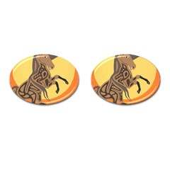 Embracing The Moon Cufflinks (Oval)