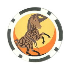Embracing The Moon Poker Chip