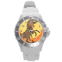 Embracing The Moon Plastic Sport Watch (Large)